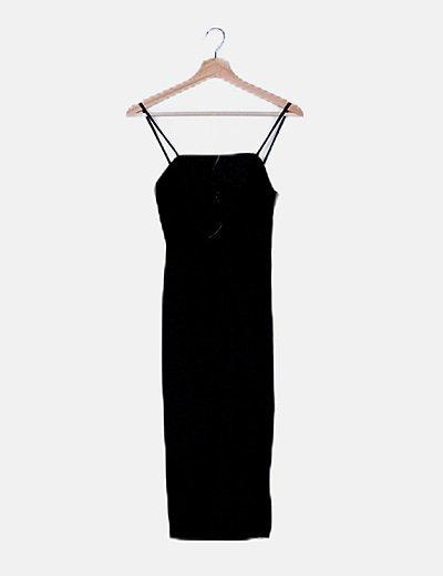 Vestido tirantes negro estampado