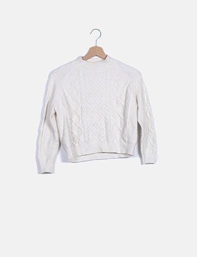 Jersey beige manga larga
