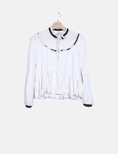 Blusa fluida blanca