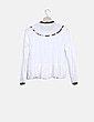 Blusa fluida blanca Zara