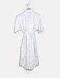 Vestido blanco abotonado manga corta Mango