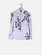 Camisa blanca estampado floral Massimo Dutti