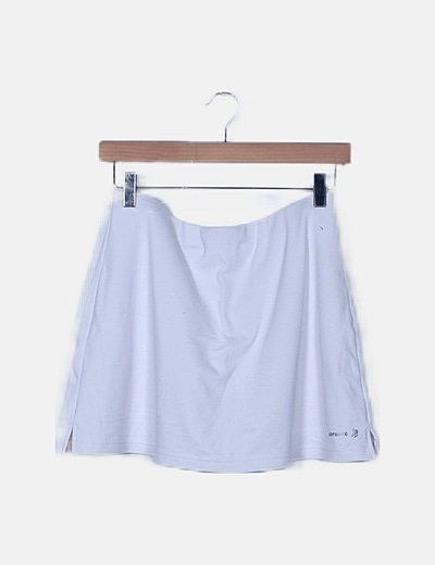 Falda pantalón blanca satinada