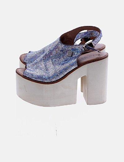 Sandalias plataforma irisadas