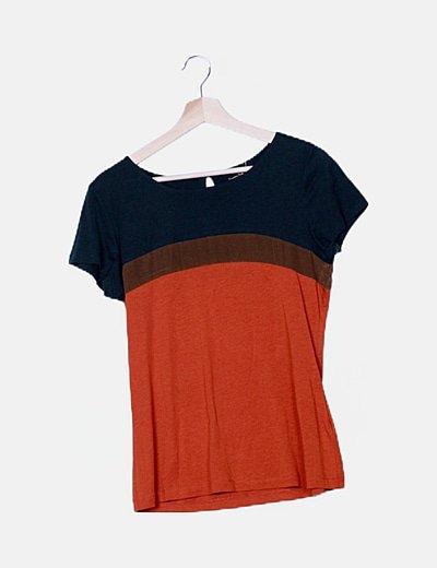 Camiseta multicolor manga corta