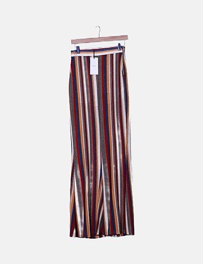 Pantalón punto rayas multicolor