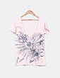 Camiseta nude estampada Often