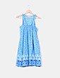 Vestido azul estampado Pull&Bear