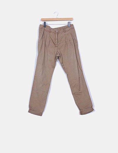 Pantalón de pinzas marrón