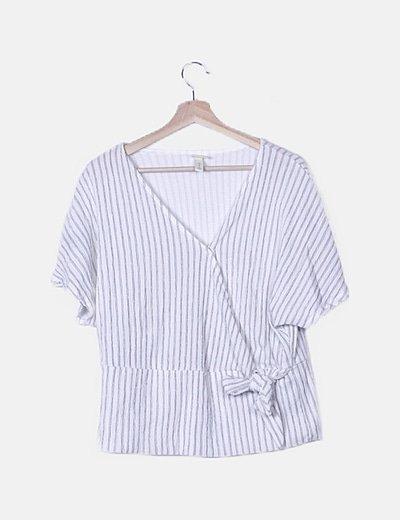 Conjunto blusa y pantalón rayas