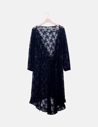 Tunica negra crochet