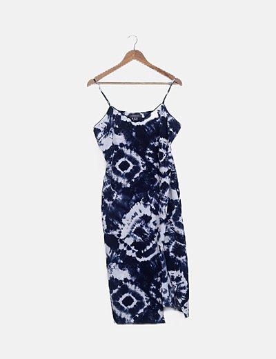 Vestido azul tie dye