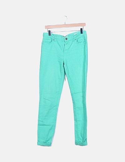 Ew Jeans Denim Verde Tobillero Descuento 96 Micolet