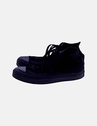 Zapatillas botín lona negras