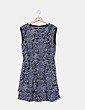 Vestido texturizado estampado H&M