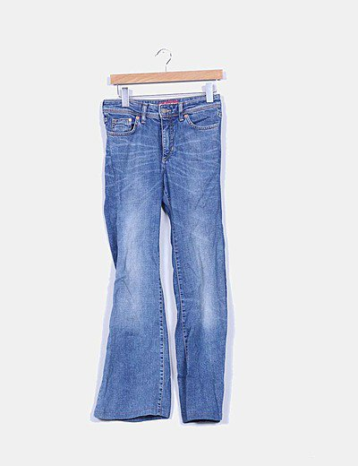 Pantalon patte d'éléphant Denim Co.