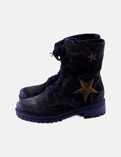 Botas militares verdes estrellas
