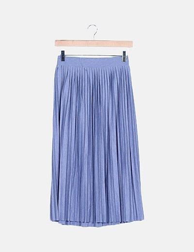 Falda azul cielo tablas