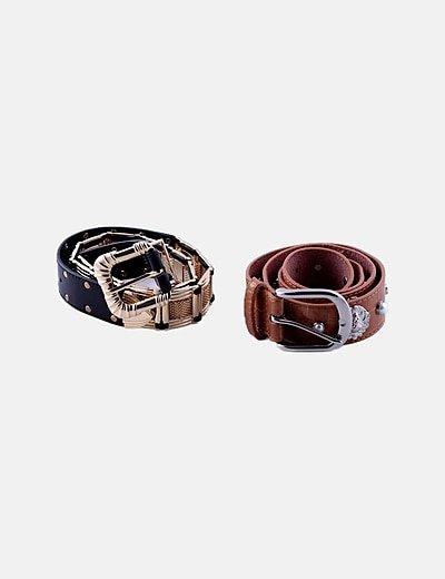 Pack 2 cinturones combinados