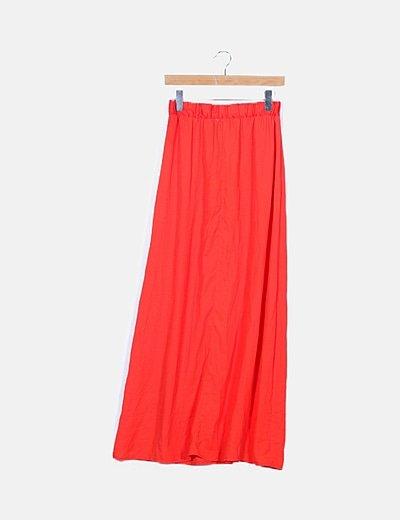 Falda semitransparente roja