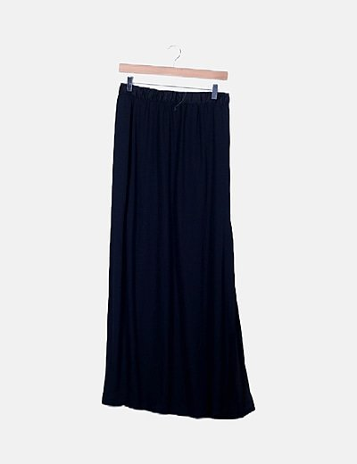 Falda semitransparente negra
