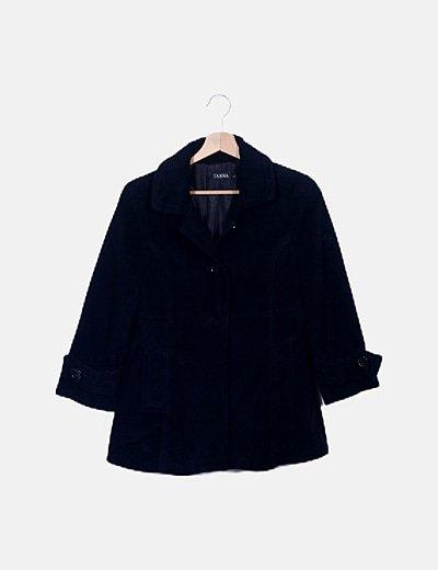 Abrigo texturizado negro