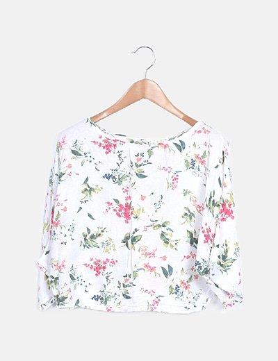 Mini falda fluida floral