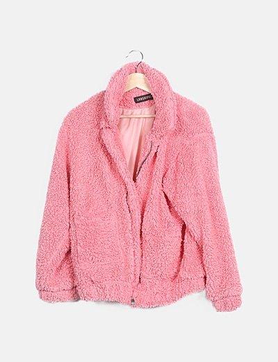 Abrigo texturizado rosa