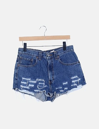 Short denim ripped
