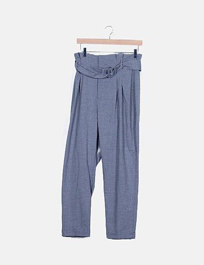 Pantalón gris tapered
