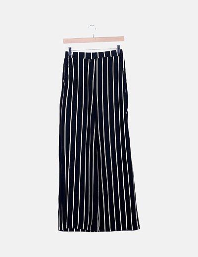 Pantalón negro wide leg