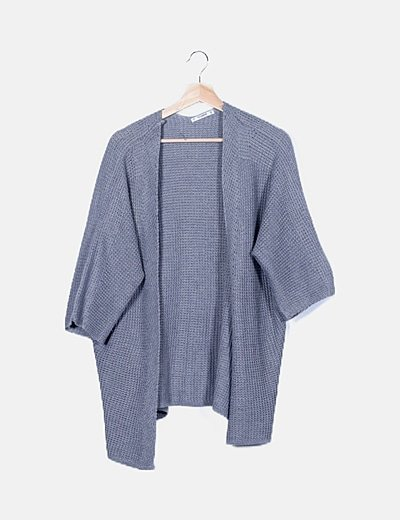 Cardigan gris crochet