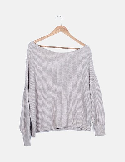 Jersey taupe oversize