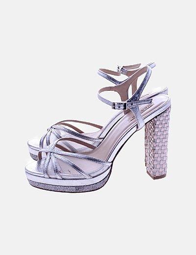Sandalia tacón glitter