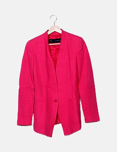 Blazer rosa larga