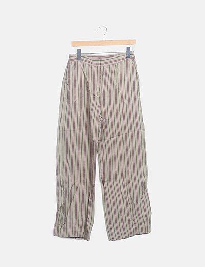 Pantalón verde de rayas