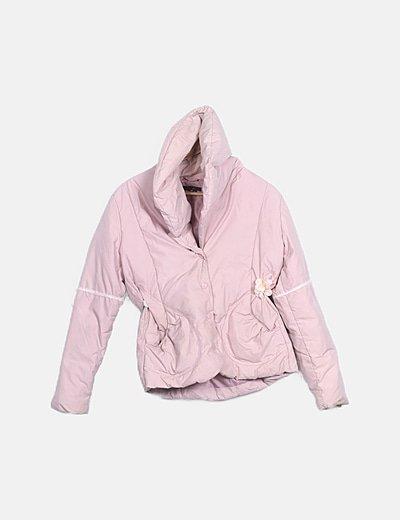 Abrigo acolchado rosa