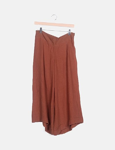 Culotte semitransparente marrón