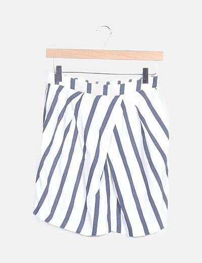 Falda pantalón print rayas