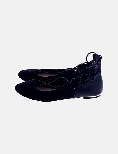 Bailarina cordones negra