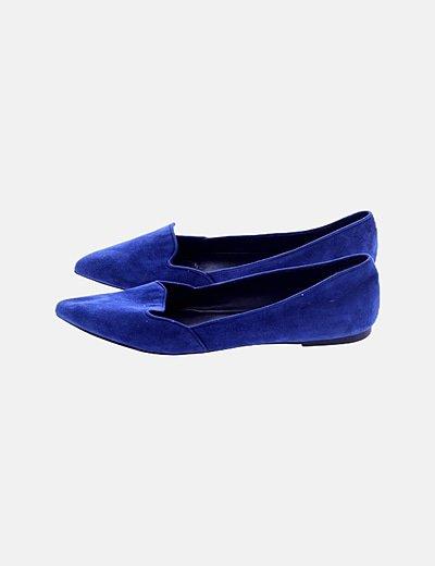 Bailarina azul marina ante