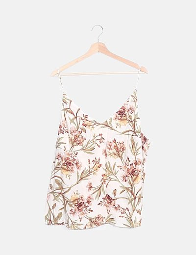Blusa beige floral