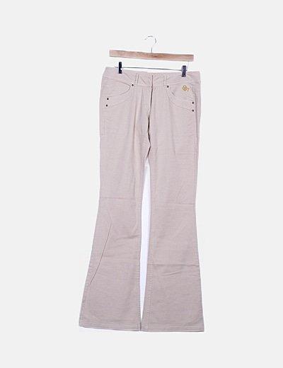 Pantalón camapana beige