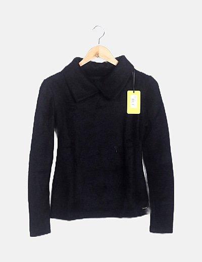 Top lana negra