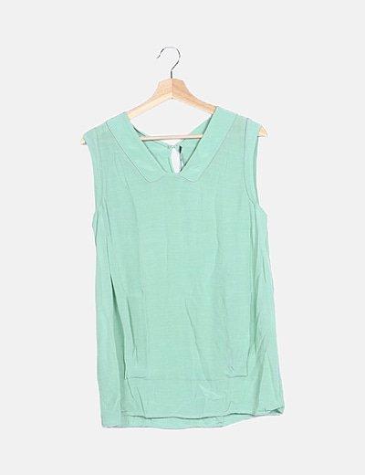Blusa fluida verde