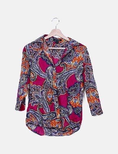 Camisa multicolor estampado combinado