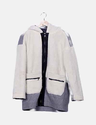 Abrigo combinado gris