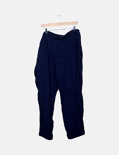 Pantalón azul noche fluido