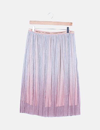 Falda plisada degradé