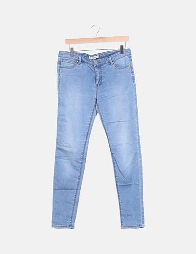 Jeans denim efecto deslavado